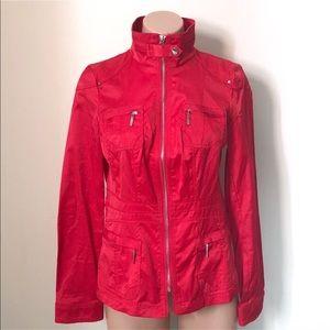 White House BM   Red Utility Jacket Full Zip